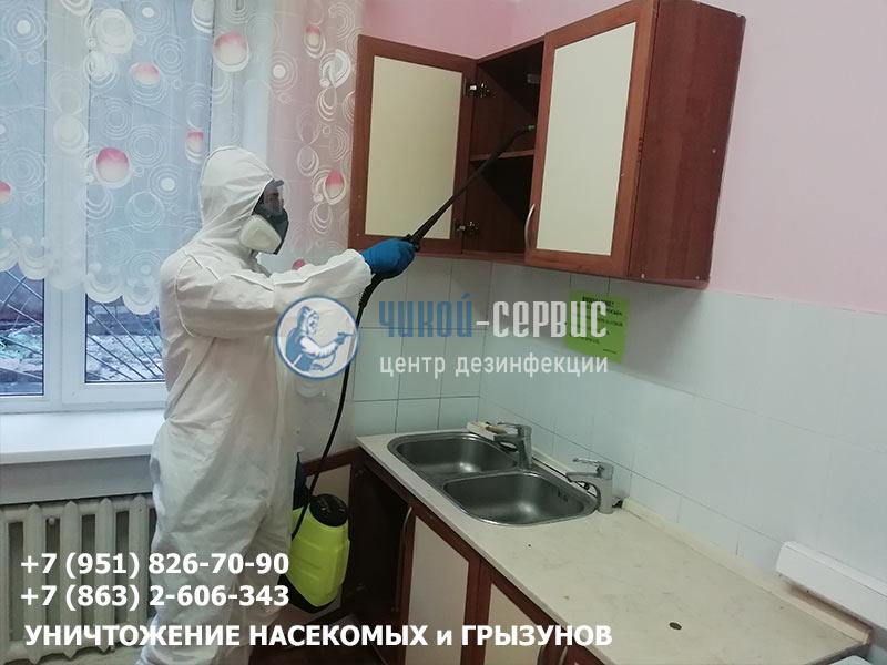 Дезинфекция тараканов в квартире в Аксае - фото Чикой-Сервис