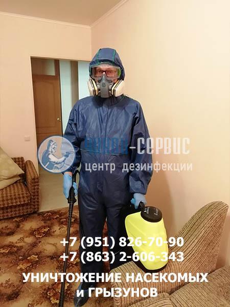 Дезинфекция клопов в Ростове от службы Чикой-Сервис - фото