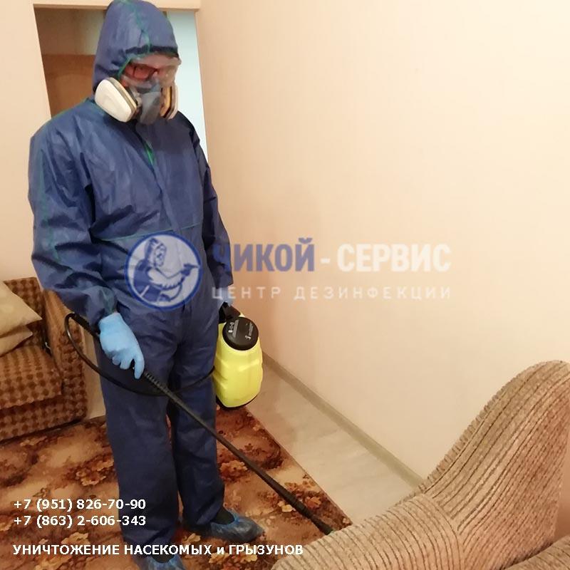 Картинка обработки от клопов в Таганроге компанией Чикой-Сервис