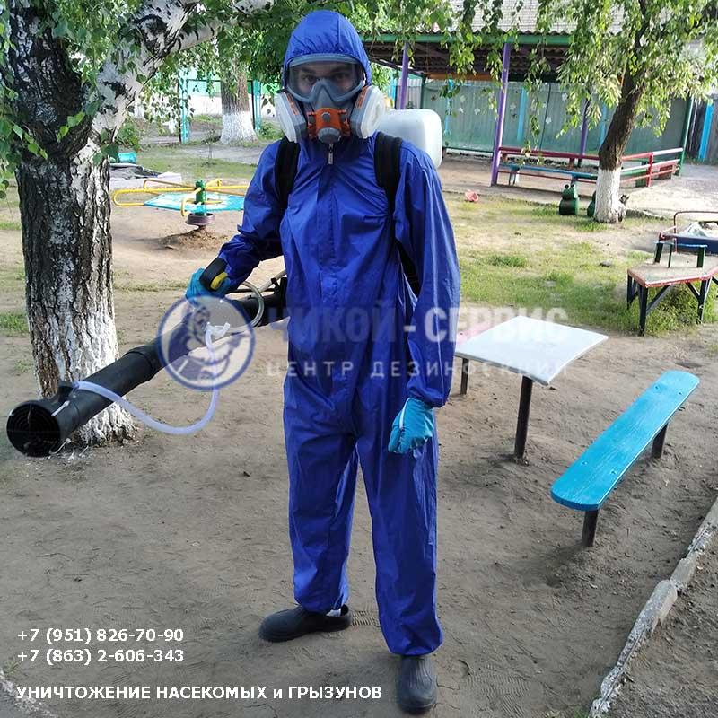 Акарицидная обработка клещей в Пролетарске - фото Чикой-Сервис