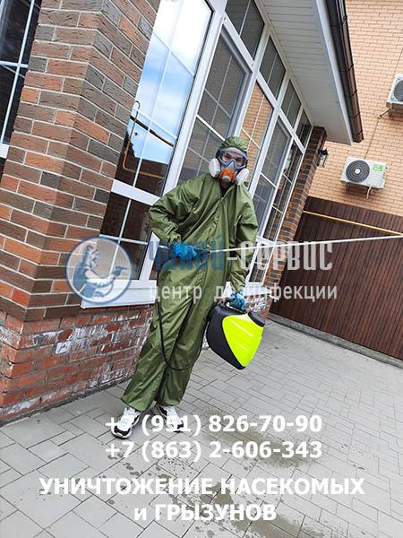 Фотография дезинфекции в Цимлянске от СЭС Чикой-Сервис